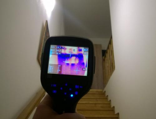 Identificare punti termice prin termografie in diferite proiecte