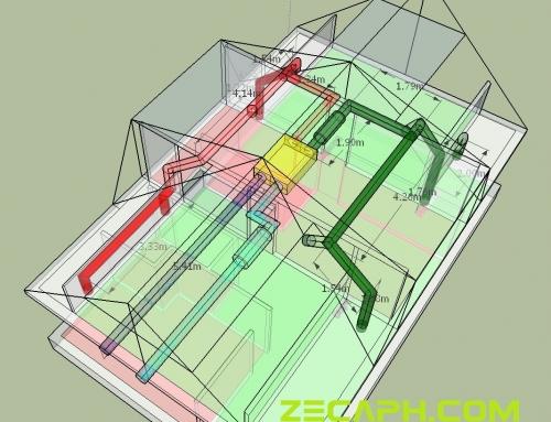 Montaj sistem ventilatie cu recuperare de caldura casa structura lemn Brasov