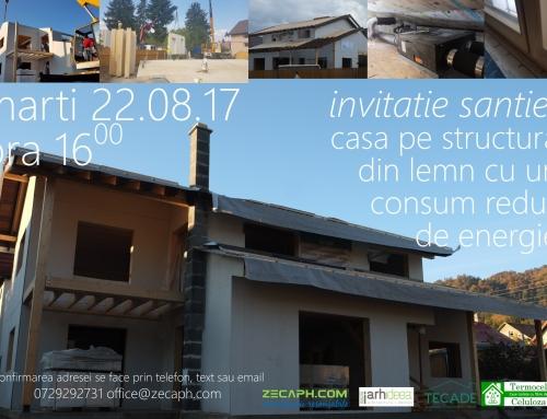 Invitatie santier casa pe structura din lemn cu un consum redus de energie in Brasov