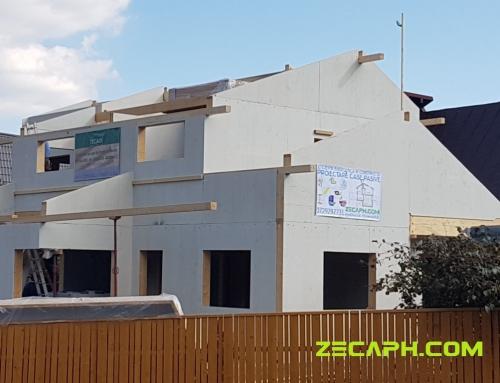 Montaj casa cu un consum redus de energie pe structura de lemn in Brasov