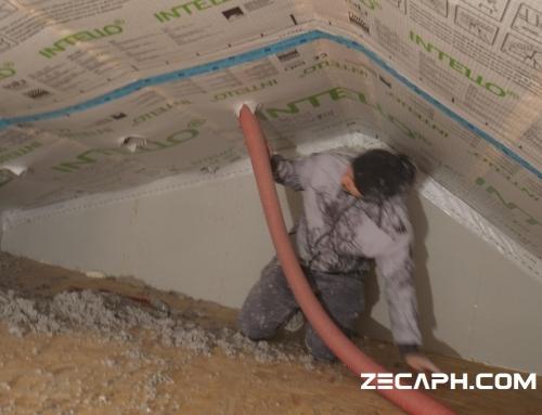 Izolare cu celuloza casa cu un consum redus de energie in Brasov