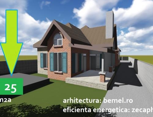 Casa cu un consum redus de energie in Snagov – proiectata si executata conform standardului de casa pasiva